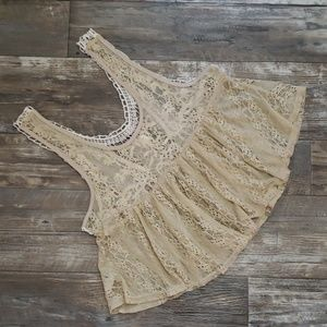 Lace cropped tank size medium